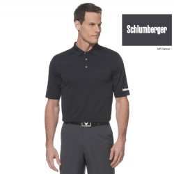 Schlumberger Men's Callaway Opti-Vent Mesh Polo Shirt - Black